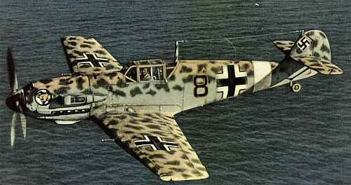Bf109 in Desert Colours